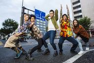 L→R 松永健太(Ba)、吉田弘輝(Gu)、RYOSUKE(Vo)、海 THE KID(Dr)、逸見豪一(Key) (okmusic UP's)