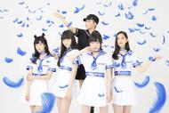 L→R 植木琳美、大西 凜、Misaki(プレーイングプロデューサー)、植木美心、山崎カノン (okmusic UP's)