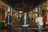 L→R タクオ(Ba)、萩原忠昭(Vo&Gu)、ミトミ(Dr) (okmusic UP's)