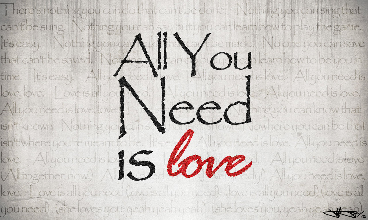 All you need is loveの拡大画像